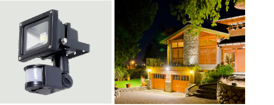 IP65 Outdoor Microwave Motion Sensor MC032S for Flood Light , 220V - 240V , Zero-crossing Point Operation