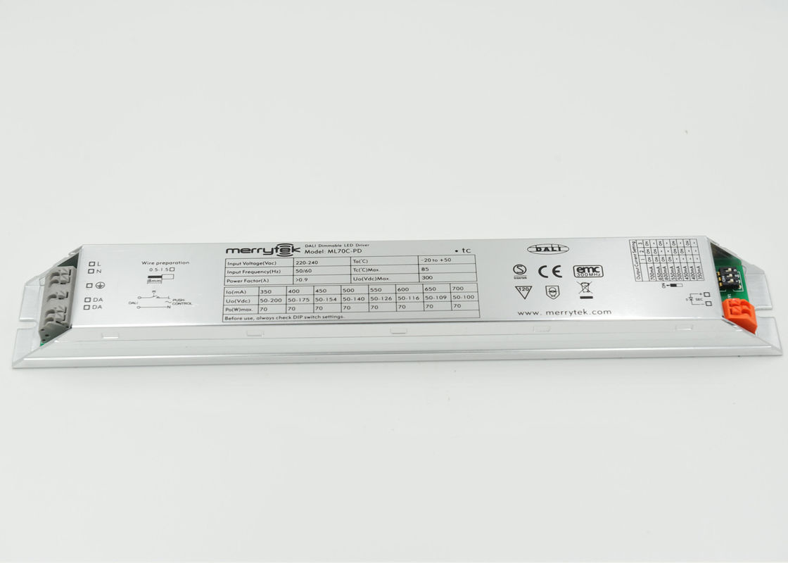 High Efficiency Outdoor 70W LED Driver / Dimmable LED Transformer 12v