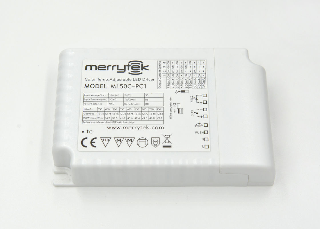 Ip20 1 10v Dimmable Led Driver 50w With Auto Recover Color Tri Circuit New Temperature Adjustable
