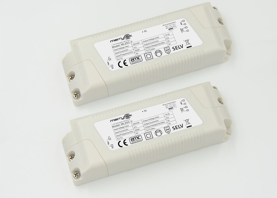 Customized Office Panel Light 0 - 10v Dimmable LED Driver 600mA Output supplier
