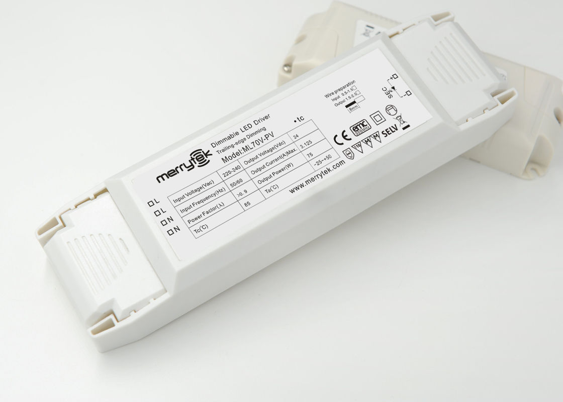 1 × 75W Push 1-10V Dimmable LED Driver , Constant Voltage PWM Dimming LED Driver supplier