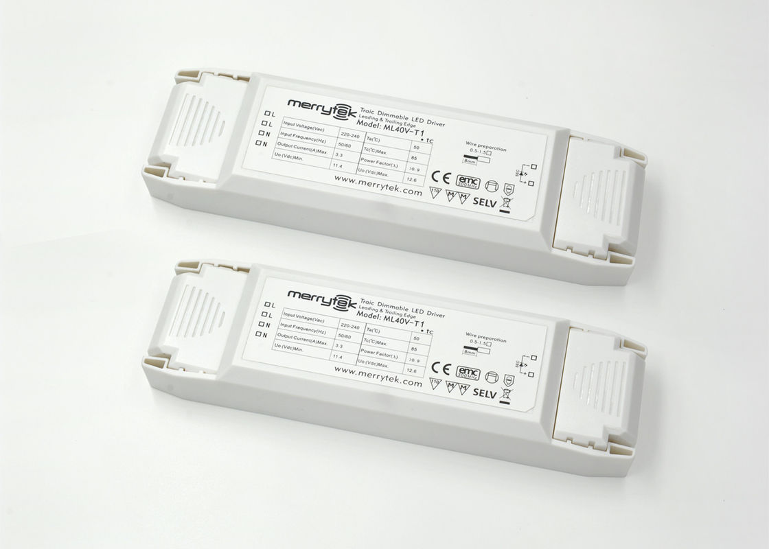 Triac Dimmable 24v Constant Voltage Led Driver 40w For Strip 12v Drive 7 High Efficiency White Flashlight Panel Light