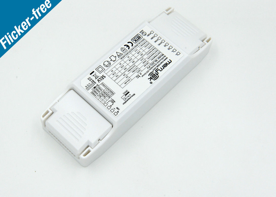 25W non flickering 1-10V / PUSH dimming LED power supply Energy saving supplier
