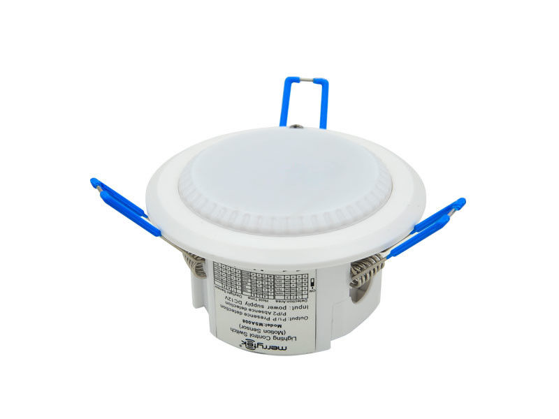 Wall Mounted Microwave Security Sensors For Led Panel Down Light On Off Function
