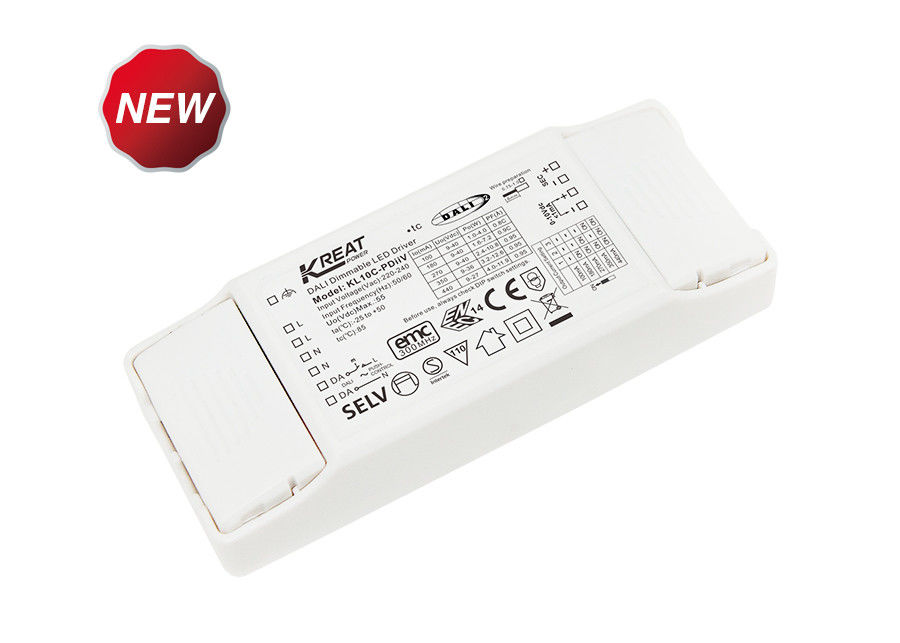 10W Flicker-free DALI2.0 Dimmable LED driver with Push DIM Memory Function KL10C-PDiiV supplier